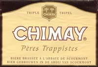 The legacy of the monks: CHIMAY, Pères Trappistes, beer brewed in Scourmont Abbey, Belgium