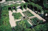 Oldcook : jardin médiéval, épices, herbes, légumes : Jardin des Cinq Sens, Yvoire (France)